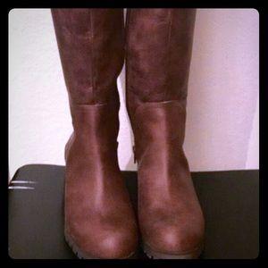 Lucky Women's Harleen Wide Calf Riding Boots